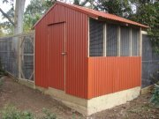 colorbond chook house by Yummy Gardens