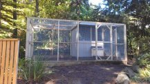 chook house with front and side run by Yummy Gardens Melbourne