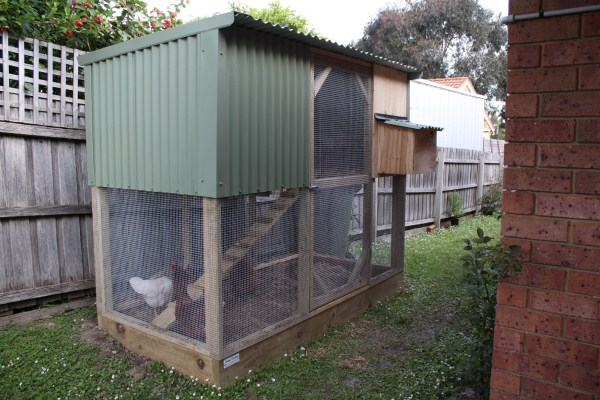 compact two tier chicken house by Yummy Gardens Melbourne