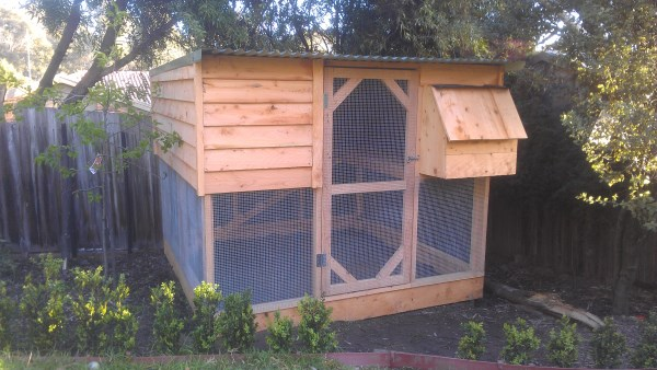 2 Tier cypress clad chook house by Yummy Gardens Melbourne