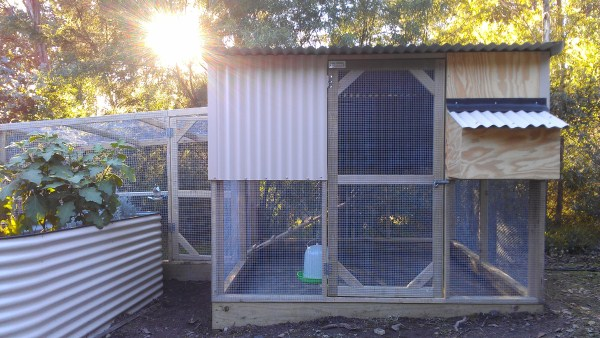 2 tiered chicken house by Yummy Gardens Melbourne