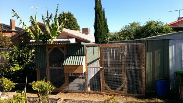 2 Tier chook house with side run by Yummy Gardens Melbourne