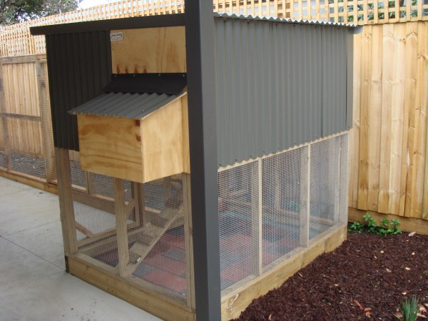 two tiered chicken coop by Yummy Gardens Melbourne