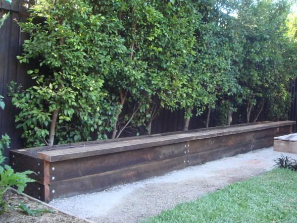 ironbark garden bed by Yummy Gardens Melbourne