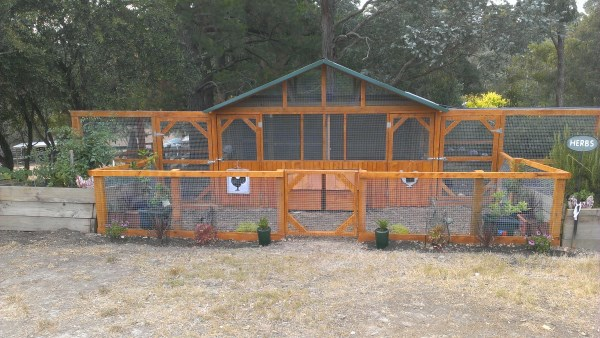 Chicken home and run designed and built by Yummy Gardens Melbourne