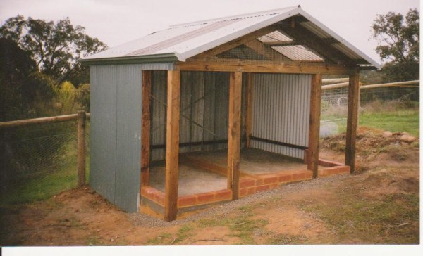 chook house under construction by Yummy Gardens Melbourne