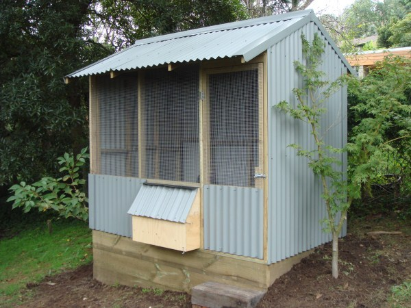 colorbond chicken house by Yummy Gardens