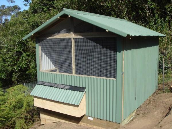 corrugated chook house by Yummy Gardens
