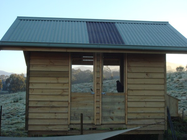 custom built timber chook house by Yummy Gardens