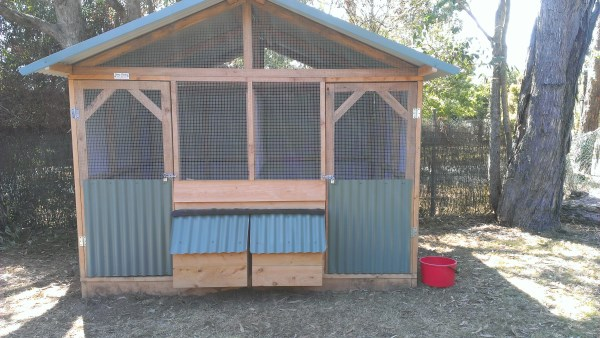 Divided chicken house designed & built by Yummy Gardens Melbourne