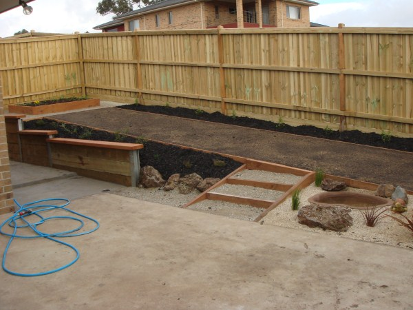 newly created back garden by Yummy Gardens Melbourne
