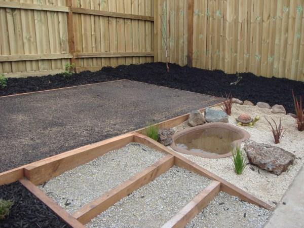 newly created back yard by Yummy Gardens Melbourne