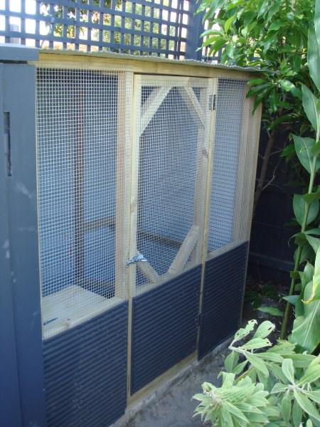 urban corrugated chookhouse by Yummy Gardens
