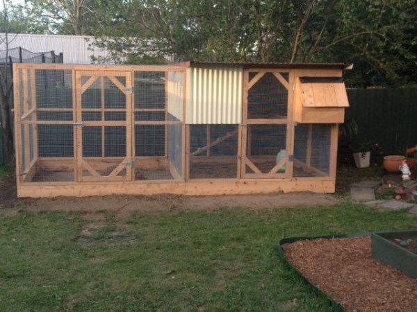 Compact cypress chicken house and run by Yummy Gardens Melbourne