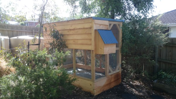 Compact cypress two tiered chook house by Yummy Gardens Melbourne