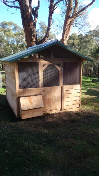 Cypress weather board chook house by Yummy Gardens Melbourne