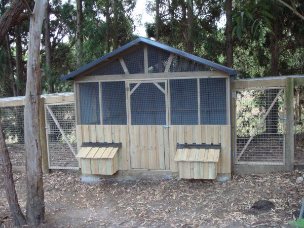 chook house and double run by Yummy Gardens Melbourne