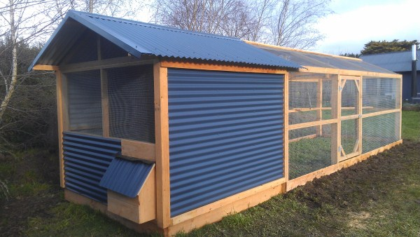 Chicken house & rear run designed & built by Yummy Gardens Melbourne