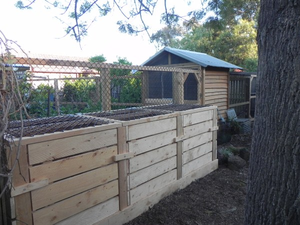 Compost bin system designed and built by Yummy Gardens Melbourne