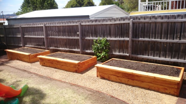 Backyard veggie beds built by Yummy Gardens Melbourne