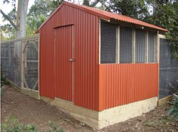 corrugated iron chook house