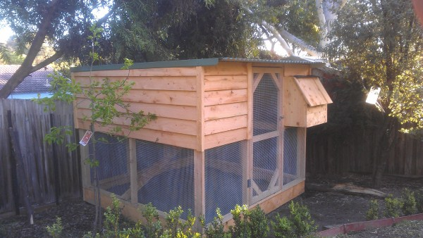 Cypress 2 Tiered chicken house designed & built by Yummy Gardens Melbourne